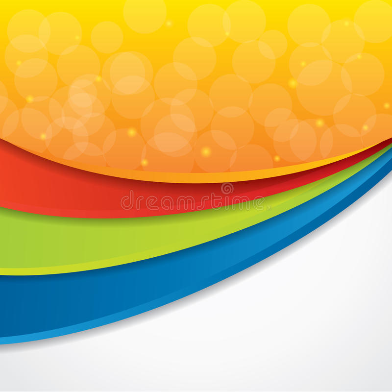 Free Colorful Abstract Vector Background Stock Images - 26720034
