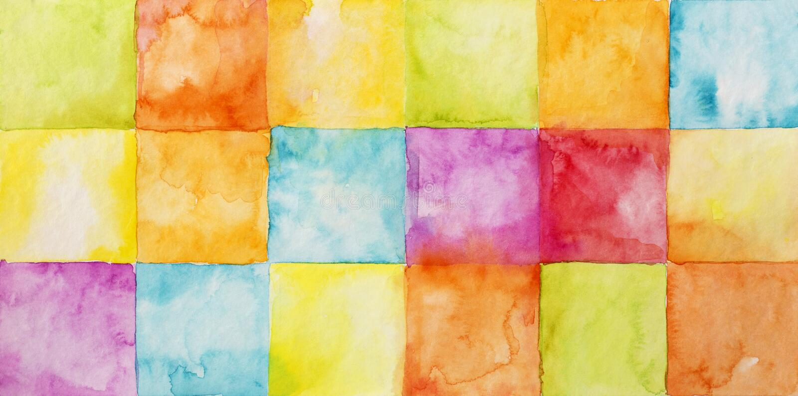Colorful abstract watercolor background. Colorful abstract watercolor textured background vector illustration