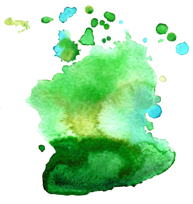 Colorful abstract watercolor texture stain with splashes and spatters. Modern creative watercolor background for trendy design stock images