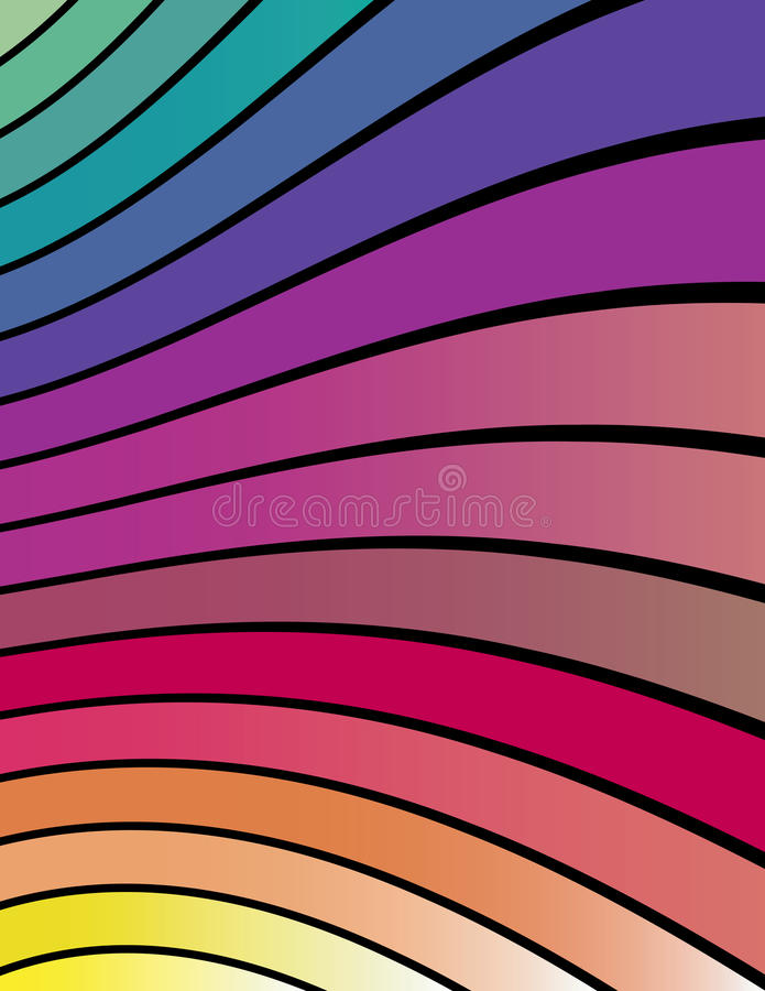 Download Colorful Abstract Wavy Lines! Stock Vector - Illustration: 23288368