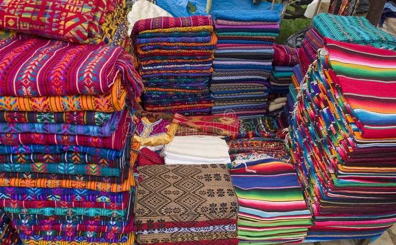 Colorful accesories in Market in Mexico. Colorful accesories in Market in Chiapas,Mexico stock images