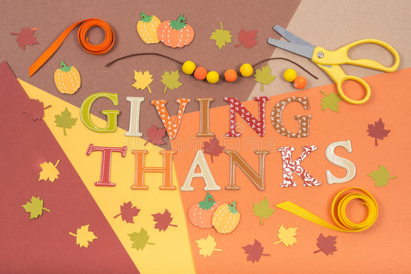Colorful accessories for Thanksgiving holiday craft royalty free stock photography