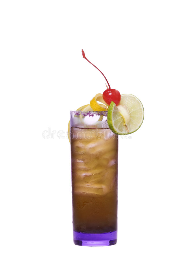 Colorful alcoholic cocktail stock image