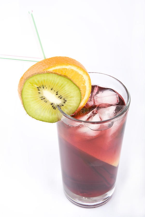 Free Colorful Alcoholic Cocktail In A Tall Glass Royalty Free Stock Photography - 9653507