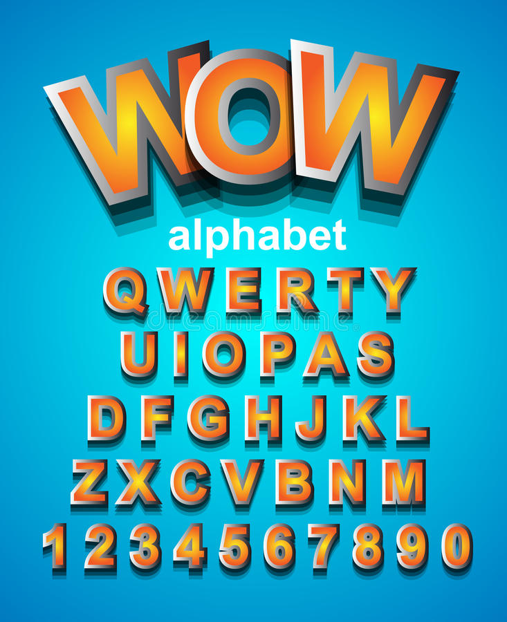 Colorful Alphapet Font to use for children's parties invitation royalty free illustration