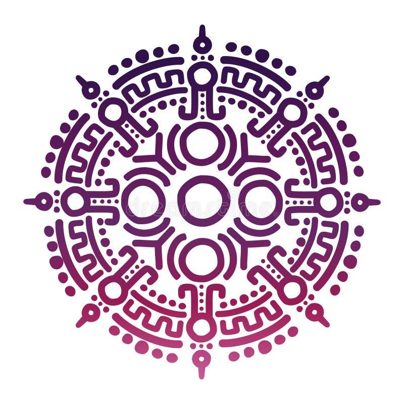 Colorful ancient mexican mythology symbol stock illustration
