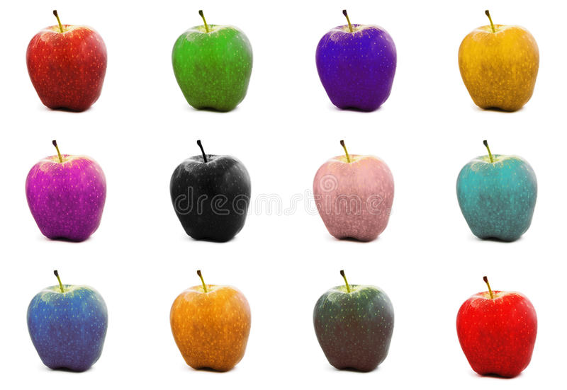 Download Colorful Apples. Royalty Free Stock Images - Image: 12491179