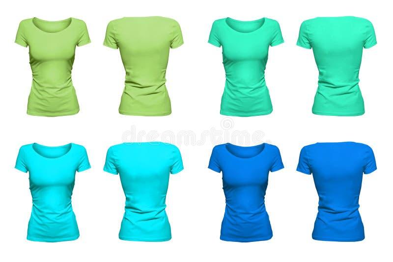 Colorful aquamarine T-Shirts stock photo