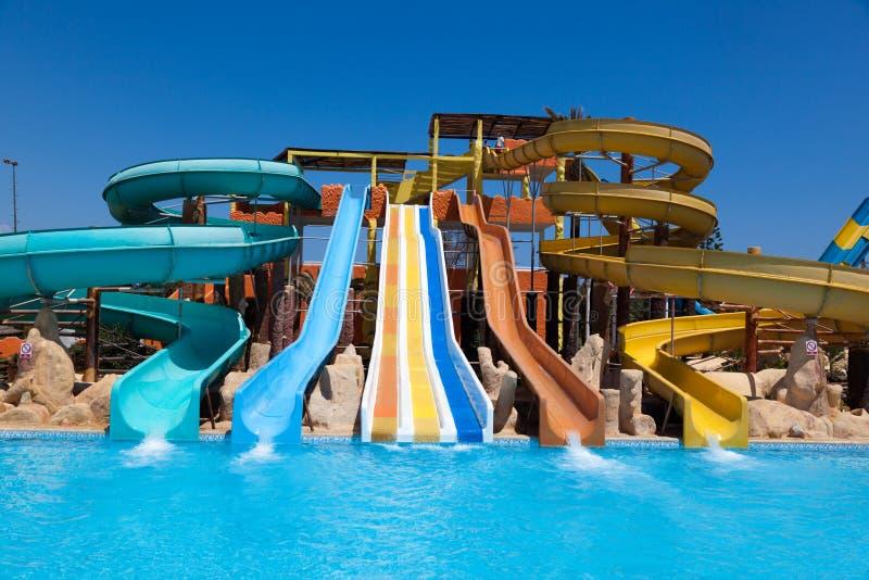 Colorful aquapark stock photo