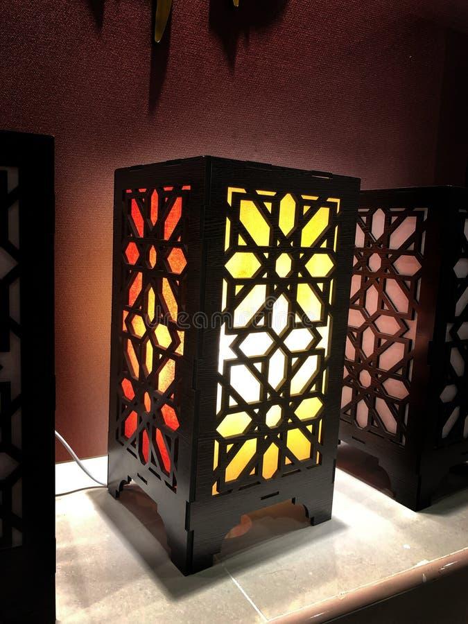 Colorful Arabian decorative light box stock images