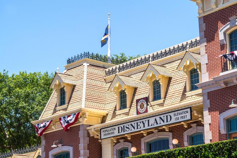 Colorful architecture of the Disneyland Park in Anaheim, Los Angeles, California, USA. stock photography