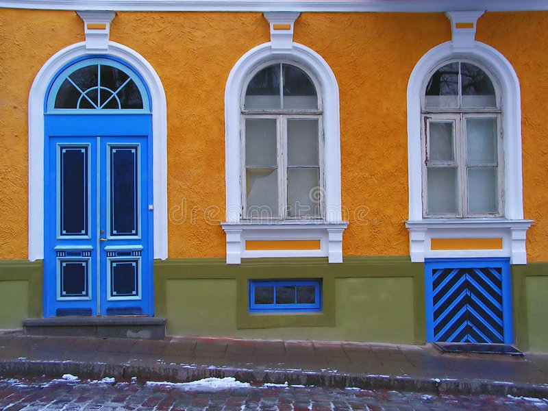 Colorful architecture: yellow royalty free stock photos
