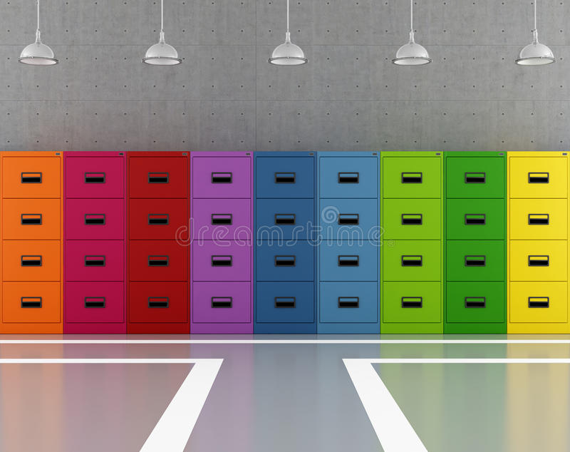 Download Colorful archive stock illustration. Image of purple - 28930308