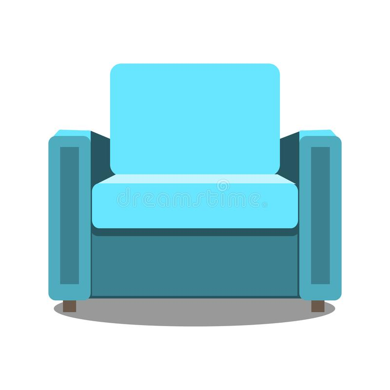 Download Colorful Armchair Icon For Your Design. Flat Cartoon Armchair  Isolated. Vector Illustration Stock