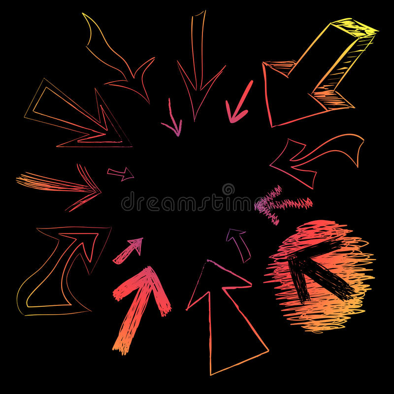 Download Colorful Arrow Doodles stock illustration. Image of button - 10853423