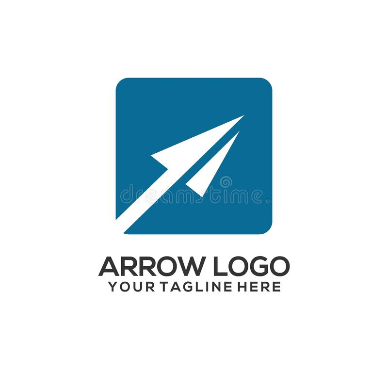 Colorful arrow logo concept and symbol vector illustration