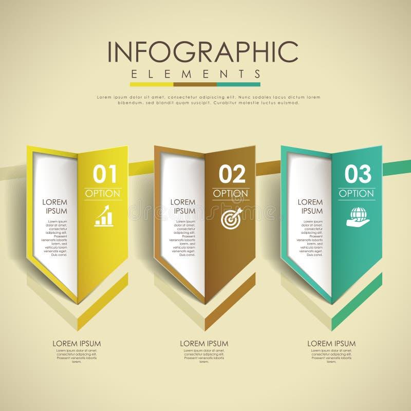 Colorful arrow options design infographic elements stock illustration