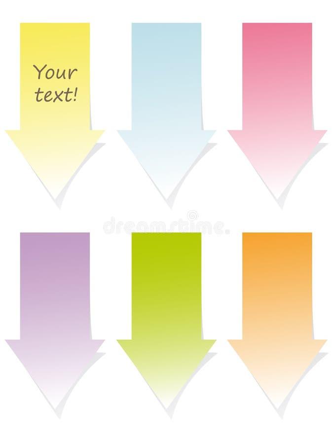 Colorful arrow post-it set