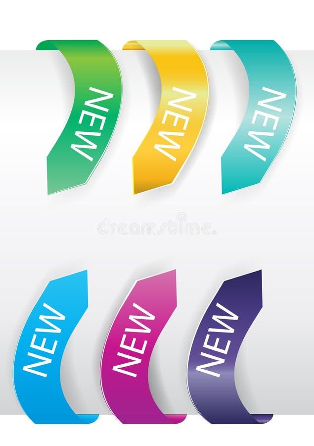 Colorful arrow sale tags stock illustration