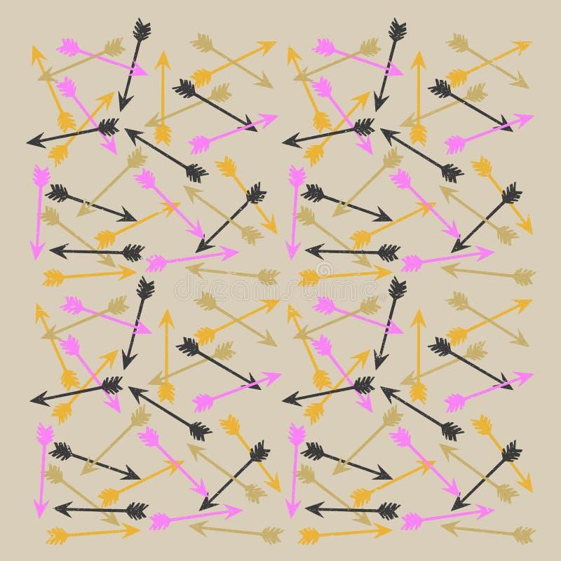 Colorful Arrow Vintage Theme Pattern vector illustration
