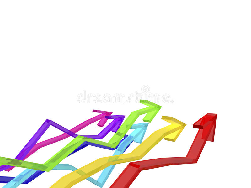 Download Colorful arrows stock illustration. Image of direction - 12825217