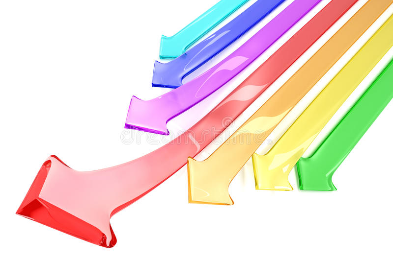 Download Colorful arrows stock illustration. Image of finance - 17814009