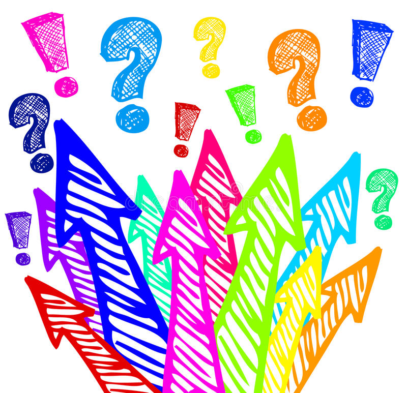 Download Colorful arrows design stock illustration. Image of question - 23690470
