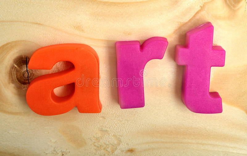 Colorful art word royalty free stock image