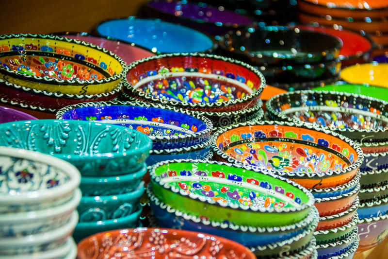 Download Colorful Artisan Plates And Bowls Stock Image - Image: 24384321