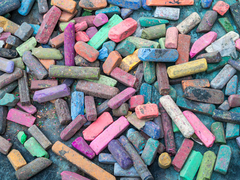 Colorful Artist Chalk Background stock photo