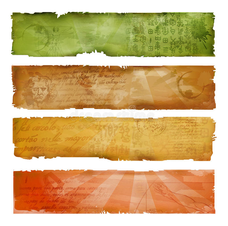 Download Colorful artistic banners stock illustration. Image of burnt - 14833996