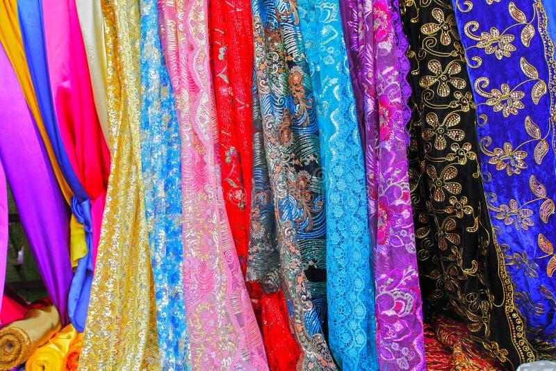 Colorful Asian Fabrics Royalty Free Stock Image