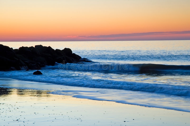 Colorful Atlantic Sunrise stock photo