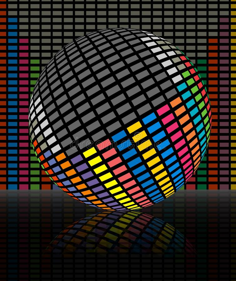 Colorful audio equalizer bars royalty free illustration