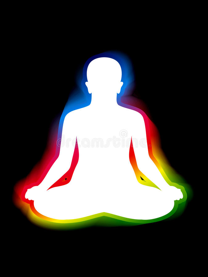 Download Colorful aura of body stock vector. Image of eps8, faith - 20364116