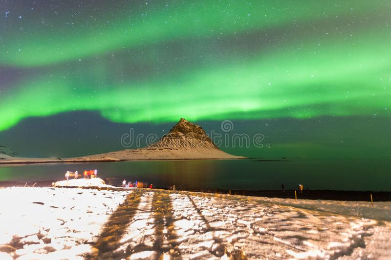 Colorful Aurora Borealis or better known as The Northern Lights stock images