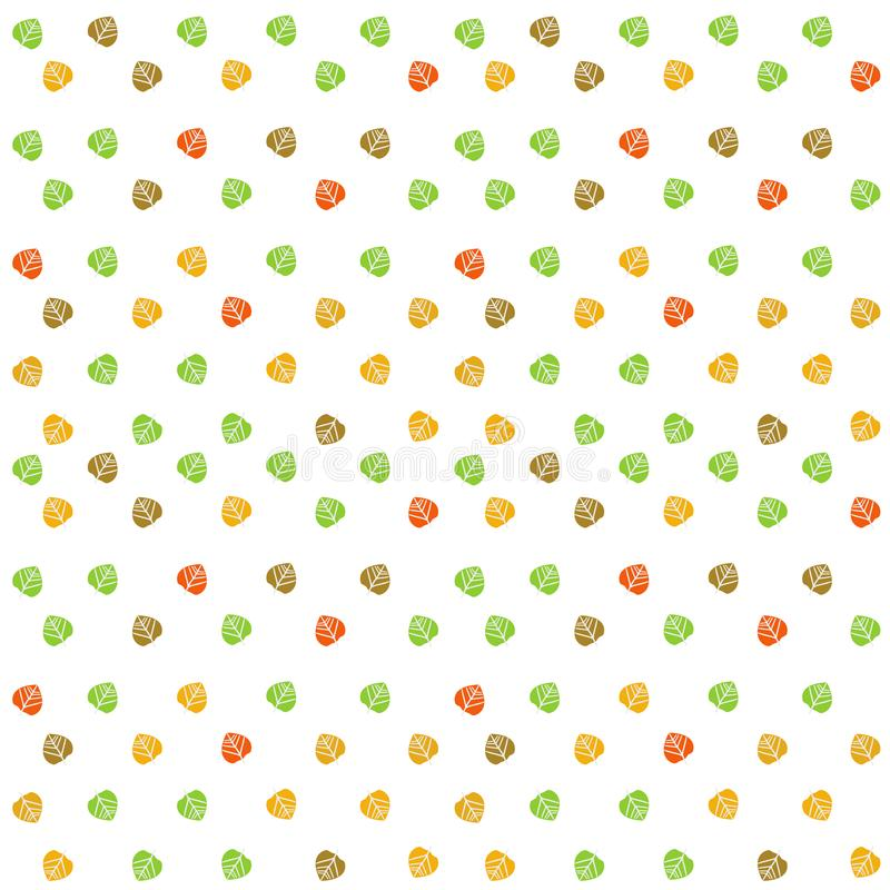 Colorful fall leaves background. Colorful Autumn or Fall leaves background filling the frame royalty free illustration