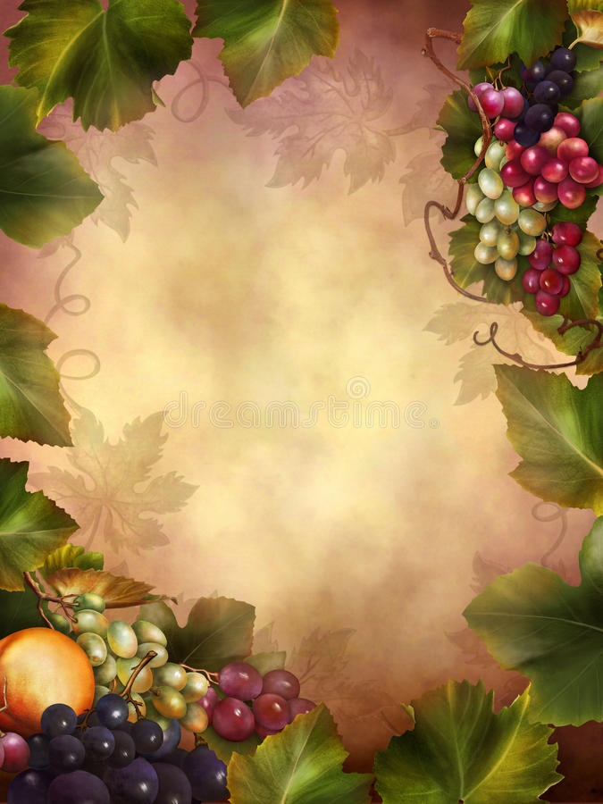 Download Colorful autumn grapes stock illustration. Image of fantasy - 29003104