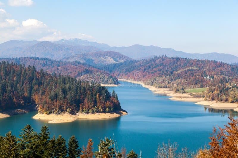 Colorful autumn lake in Croatia. Shot of colorful aun lake in Croatia royalty free stock images
