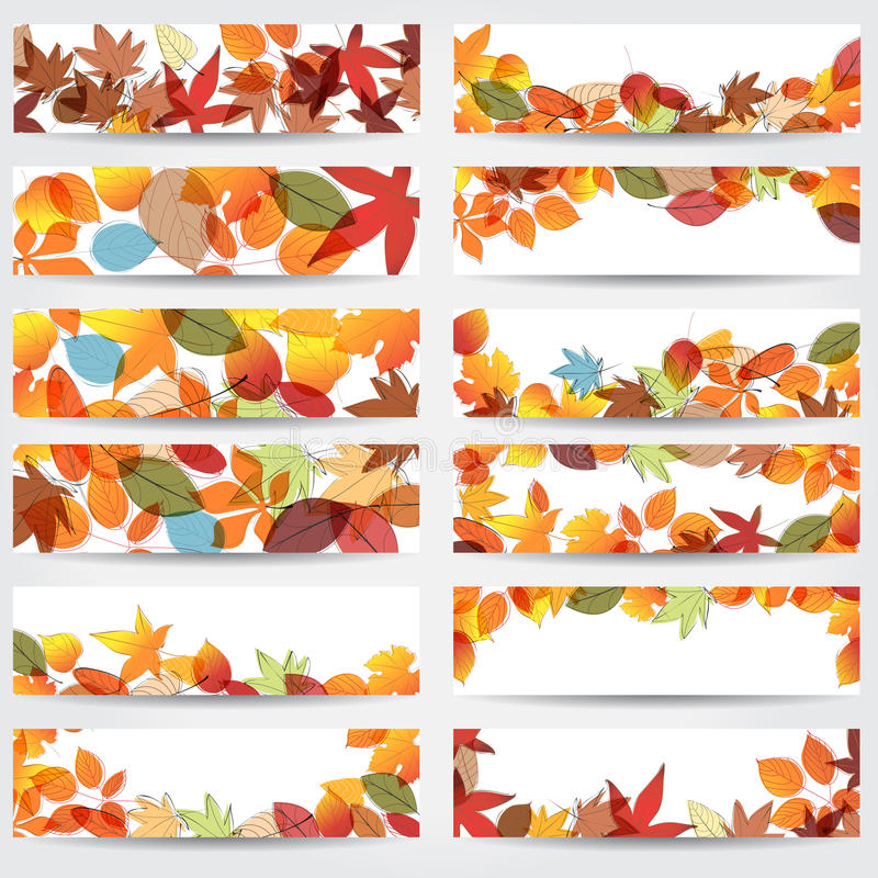 Download Colorful Autumn Leaves Banners Stock Image - Image: 26660861