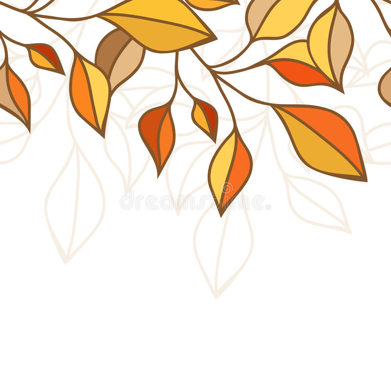 Colorful autumn leaves seamless pattern. Vector illustration. Gr. Eeting card, banner, flyer background royalty free illustration