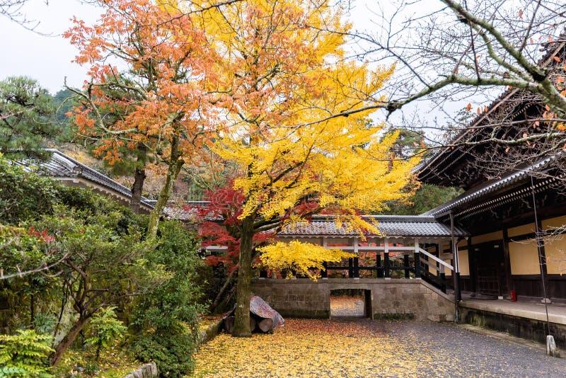 Colorful autumn season of Nanzenji Temple in Kyoto, Japan stock image