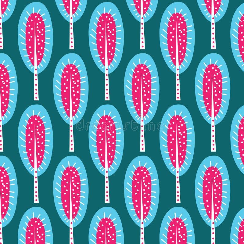 Vintage autumn leaves seamless pattern background. stock illustration