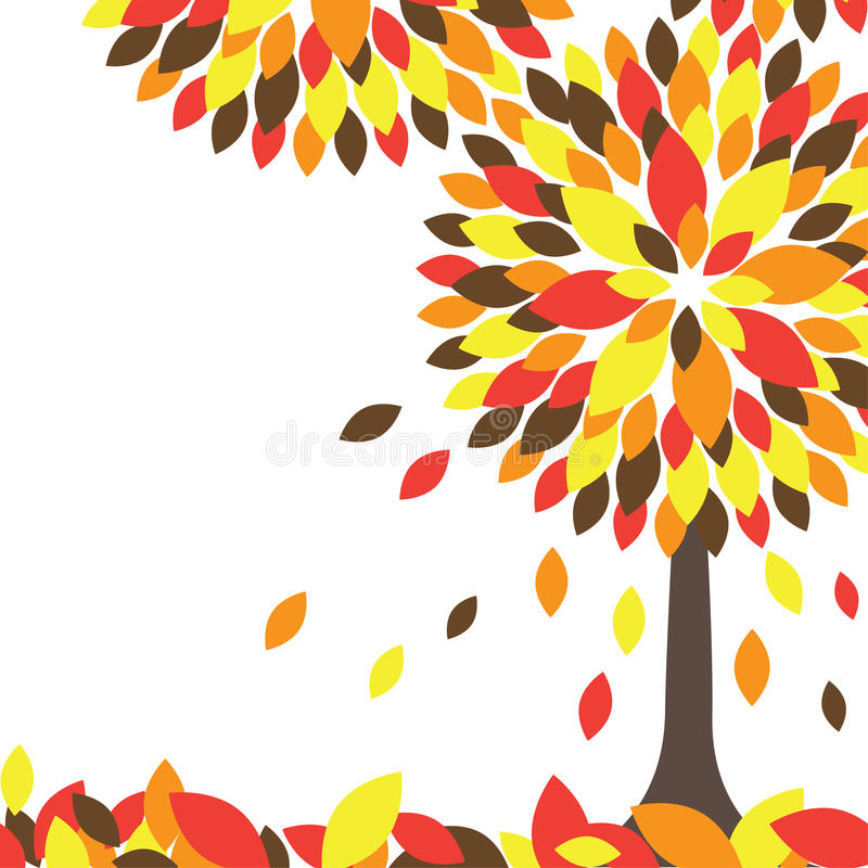 Download Colorful Autumn Tree. Vector Illustration Royalty Free Stock Photo - Image: 15811355
