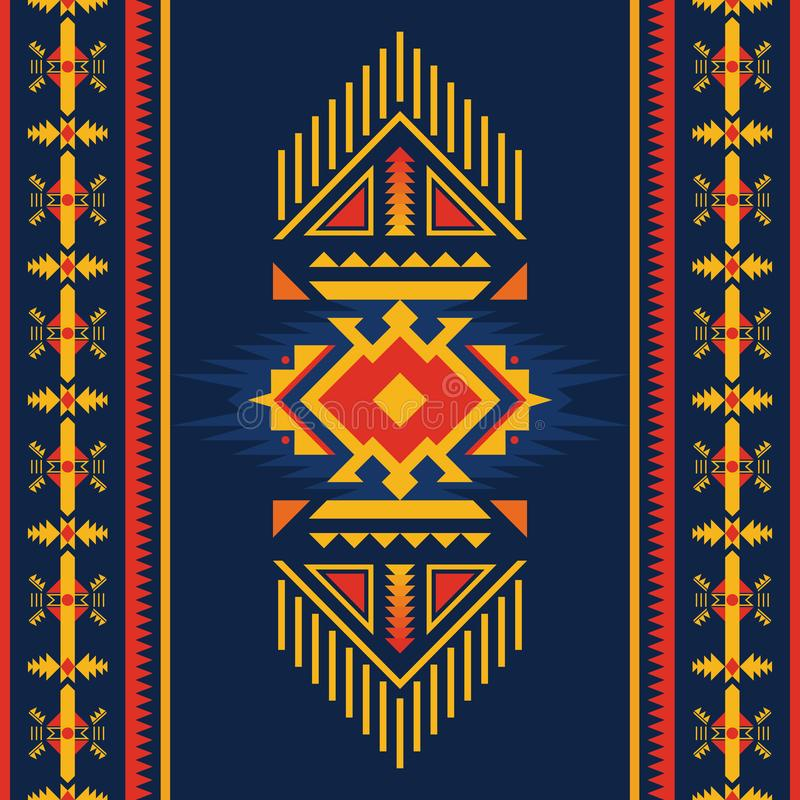 Colorful Aztec seamless pattern. Ethnic geometric ornament. Ethnic seamless pattern. Native American Southwest, Navajo, Aztec geometric ornament. Tribal vector royalty free illustration