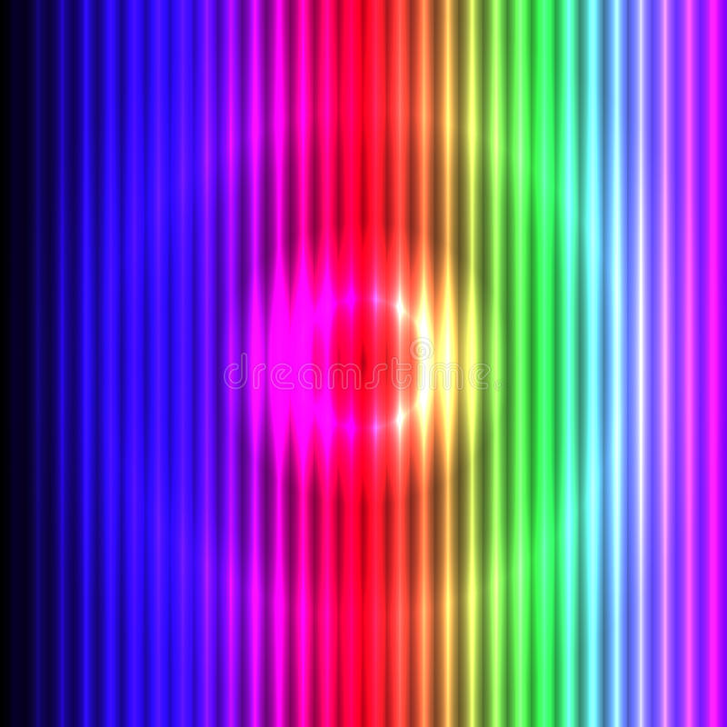 Colorful Background With 3D Lights Effect Stock Photography