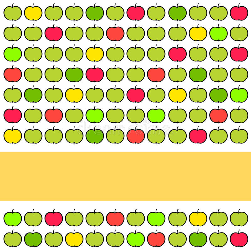 Colorful Background With Apples Royalty Free Stock Image
