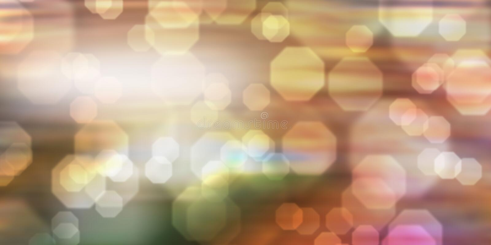Colorful background with blurred hexagons stock photography