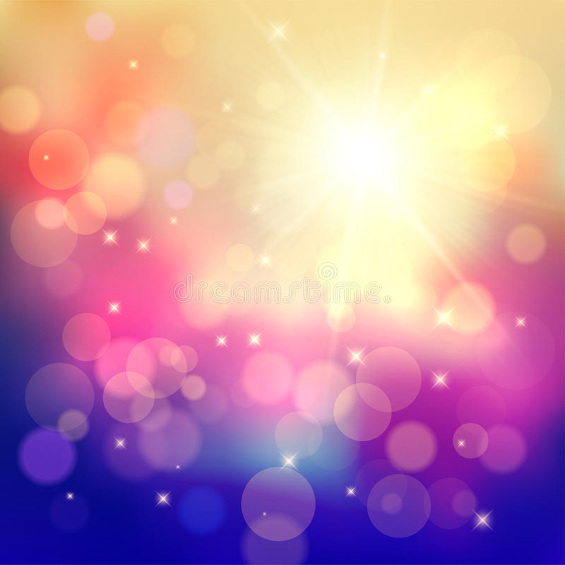 Colorful background with bokeh effect stock photos