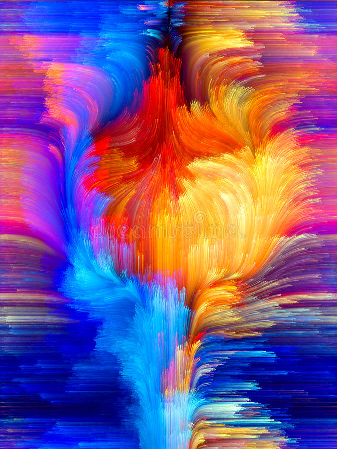 Colorful Background. Colors In Bloom series. Arrangement of fractal color textures on the subject of imagination, creativity and design royalty free stock photo